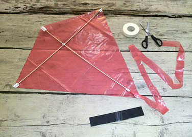 Image: Step-by-step guide to making a kite