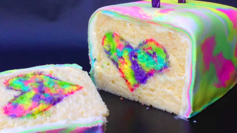 Image: This rainbow surprise cake will blow your mind