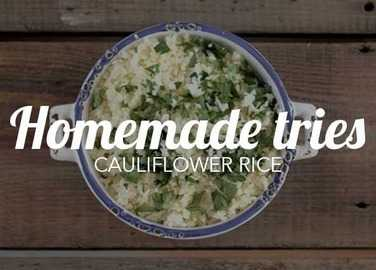 Image: Homemade tries: cauliflower rice