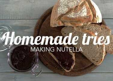 Image: Homemade Tries: Making Nutella