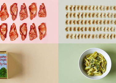 Image: What does 500 calories of savoury stuff look like?