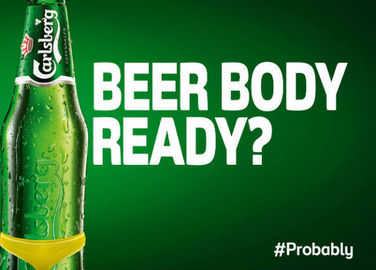 Image: Carlsberg responds to controversial beach body ad in the best way