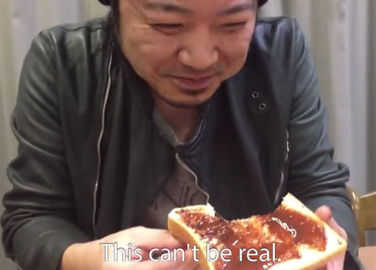 Image: Japanese people react to eating Marmite for the first time