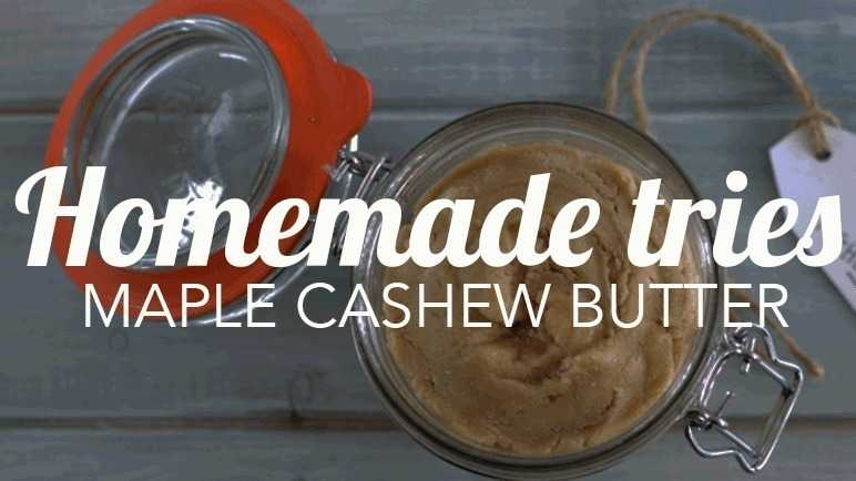 Image: Homemade tries: cashew butter