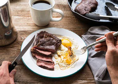 Image: steak and eggs recipe