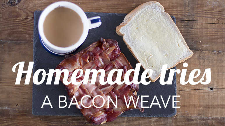 Image: Homemade tries: weaving bacon