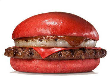 Image: Meanwhile in Japan: Angry-looking red burger, anyone?