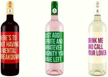 Image: Finally, wine labels that speak the truth