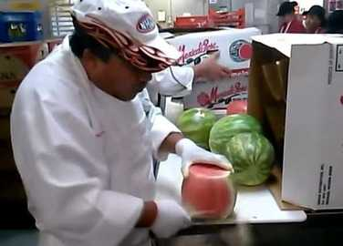 Image: Have you ever seen a watermelon ninja in action?
