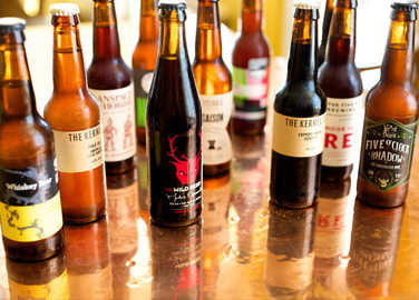 craft-beer-bottles-on-table-homemade