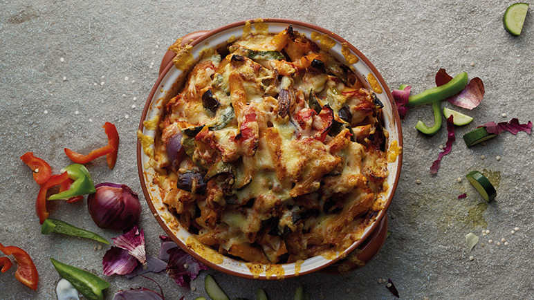 Image: 6 flavour twists on the classic pasta bake