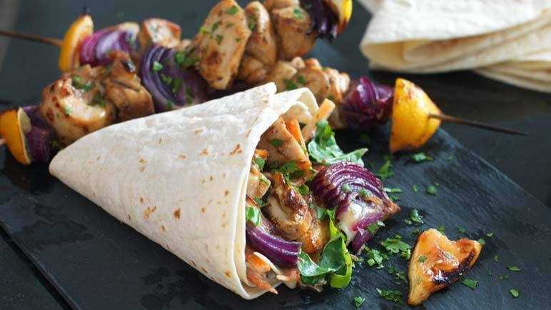 Image: Jerk chicken kebabs