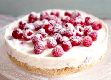 Image: How to make raspberry cheesecake