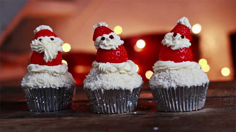 Image: Santa cupcakes that anyone can make (including you)