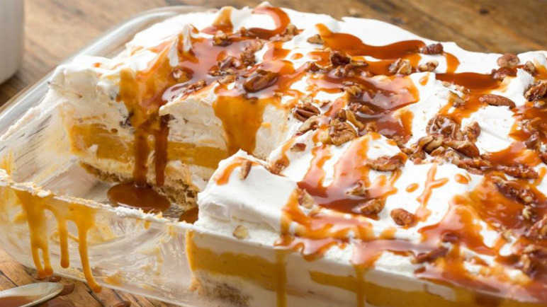 Pumpkin cheesecake lasagne? It's the best winter dessert that's ever ...