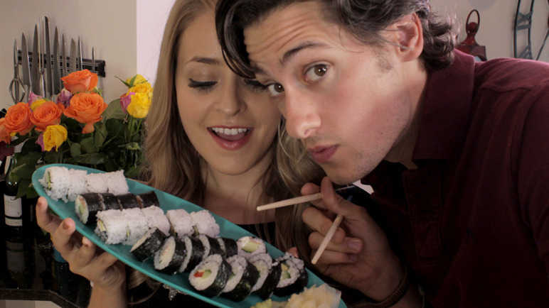 Image: Fleur and Mike make sushi