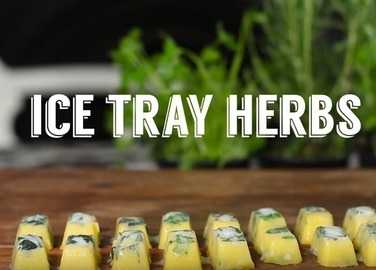 How to make ice-tray herbs