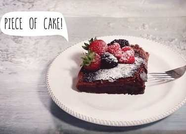 How to make two-ingredient Nutella cake