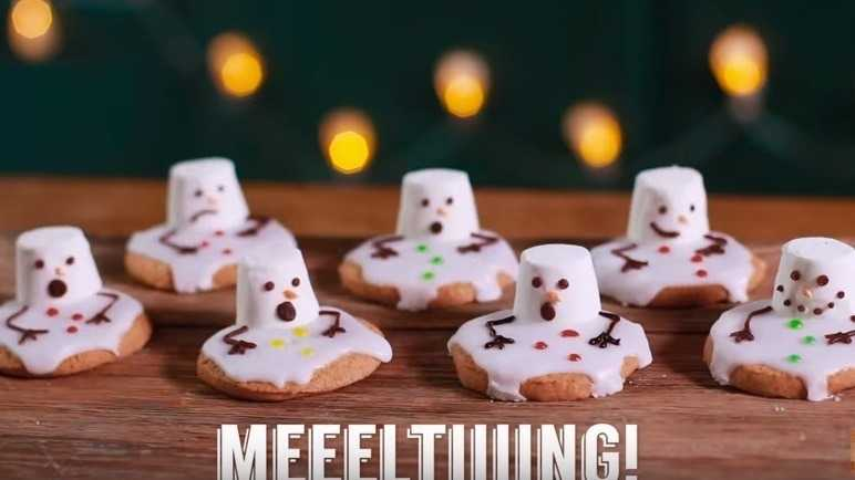 Melting snowmen cookies