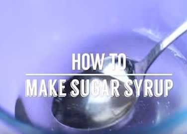 Image: How to make sugar syrup
