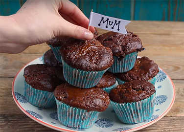 Image: Chocolate caramel muffins for Mother's Day