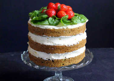 Image: Spinach and coconut yogurt cake