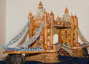Image: tower bridge made from gingerbread