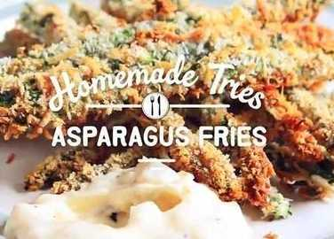 Image: Homemade tries: asparagus fries