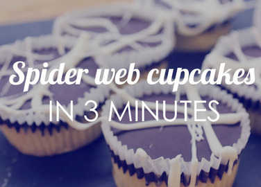 Image: Make spider cupcakes in 3 minutes