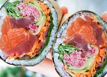 Image: Meet the sushi burrito
