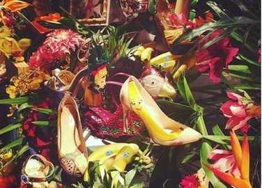 Image: Feeling fruity? Banana stilettos and watermelon clutches are what you'll be wearing next season