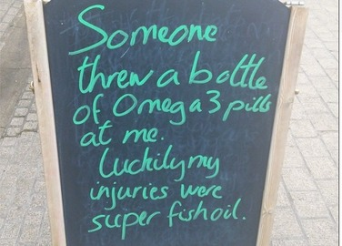 Image: This Scottish cafe's board puns are blowing up on social media