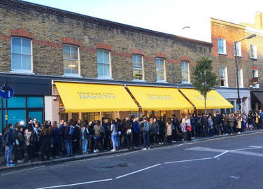Image: We went to Dominique Ansel's new London bakery this morning and it was chaos