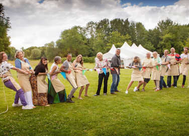 Image: Great British Bake Off 2014 tug of war