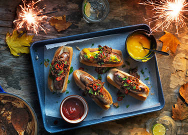 Image: 9 hotdog showstoppers for Bonfire Night