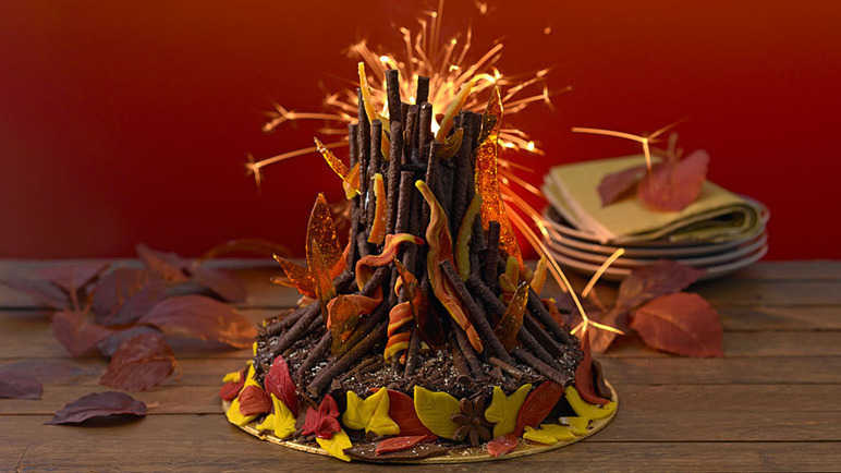 Best-ever Bonfire night cake