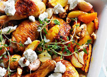 Butternut chicken with walnuts
