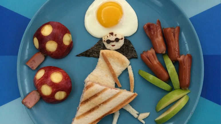 Image: Feeling blue? These plates of food will make you smile