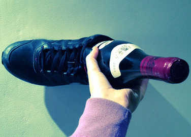 Image: How to open a bottle of wine without a corkscrew (for when you're really desperate)