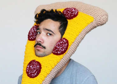 Image: Pizza slice hat anyone?