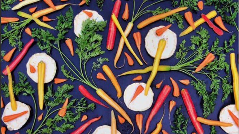 Image: Vegetable art to make eating healthily in January more bearable