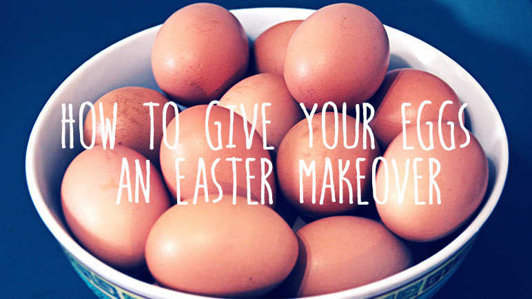 Image: How to make eggs look pretty for Easter