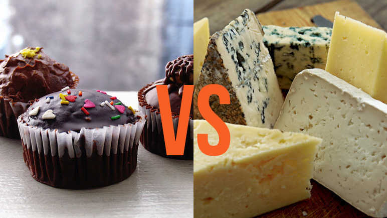 Cupcakes vs cheese