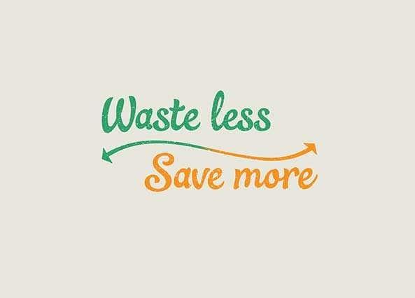 Waste less, Save more logo