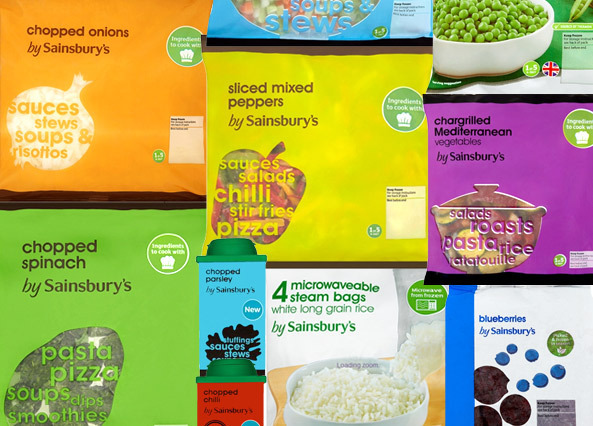 Frozen food by Sainsbury's