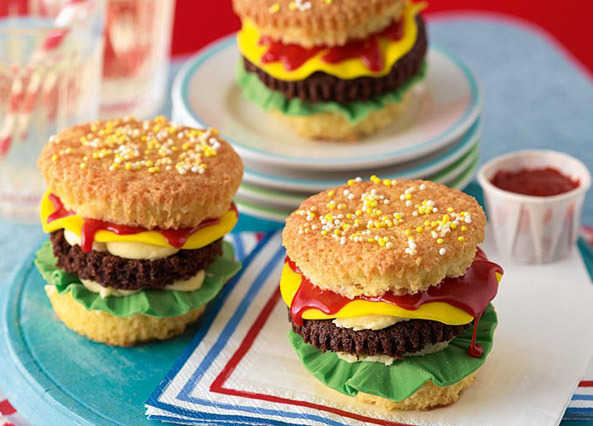 Mike's cheeseburger cupcakes