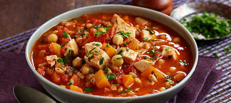 Moroccan Style Chicken Soup