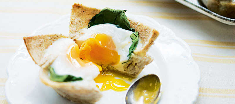 Baked spinach eggs recipe