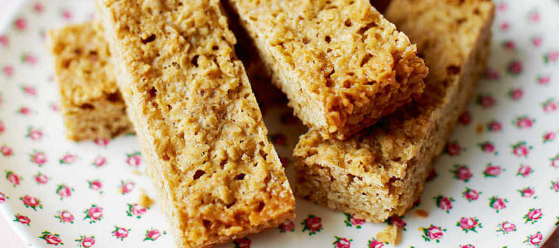 Maple syrup flapjack