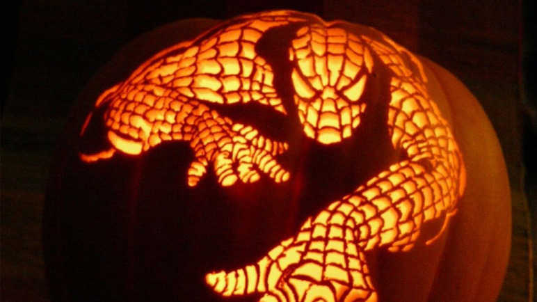 spiderman-pumpkin-homemade